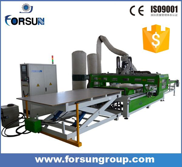 New design !! auto loading nesting 3d wood cutting machine cnc router price for furniture cabinet door