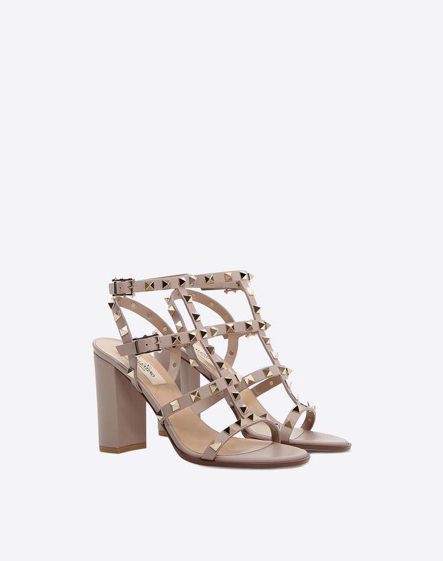 faceebb97a5 Valentino - Rockstud block heel cage Sandal