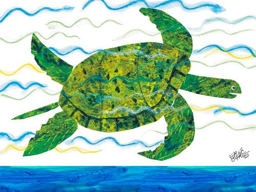 Oopsy daisy Sea Turtle by Eric Carle www.sweetretreatkids.com #sweetretreatkids #beachart #beachprint #oceanart #oceanprint #kidswallart #wallart #seaturtle #seaturtleprint