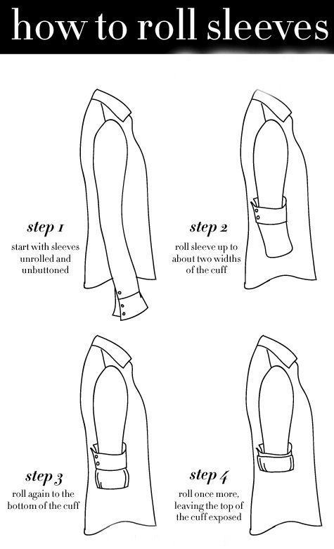 This is SO important, especially if you wear shirts with contrast/patterned cuffs!