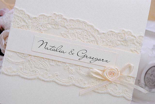 PRINCESS Zaproszenia Ślubne Ślub koronkowe NOWE !