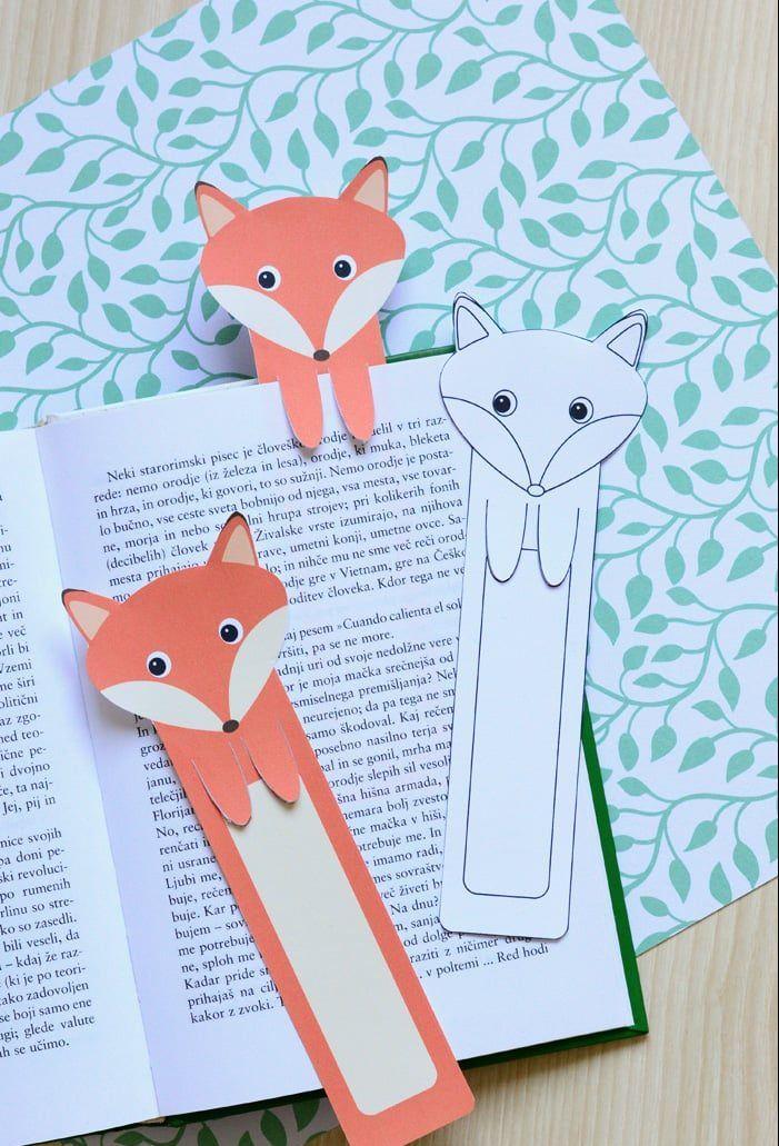 Ausmalbilder Für Tolle Lesezeichen Zum Ausdrucken Gs Fuchsklasse