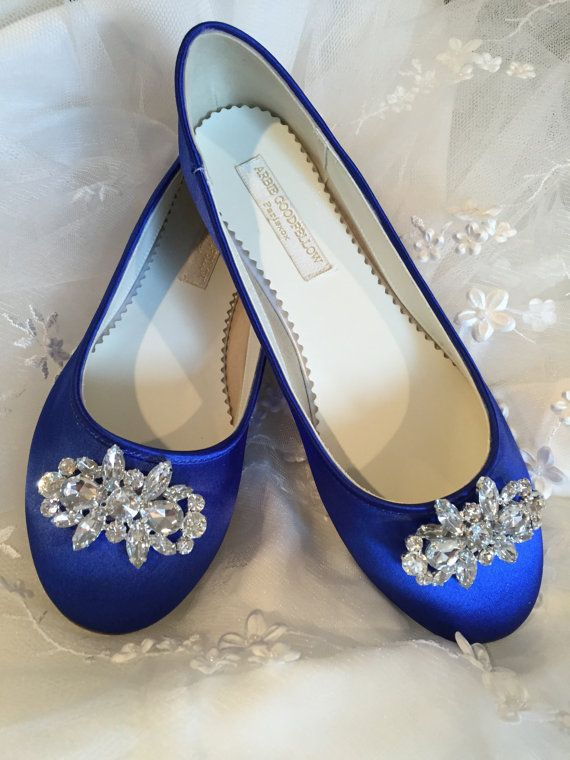 Sapphire Blue Flats  Royal Blue Wedding Shoes  Wedding by Parisxox