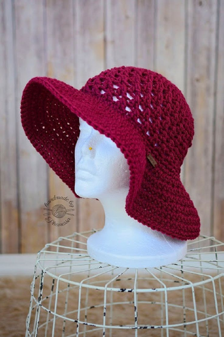 Crochet Sun Hat Pattern - 10 Free Crochet Patterns to Get in Style This Summer