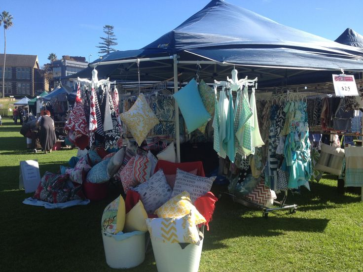 Set up for the market! Cushions by Cooshonz
