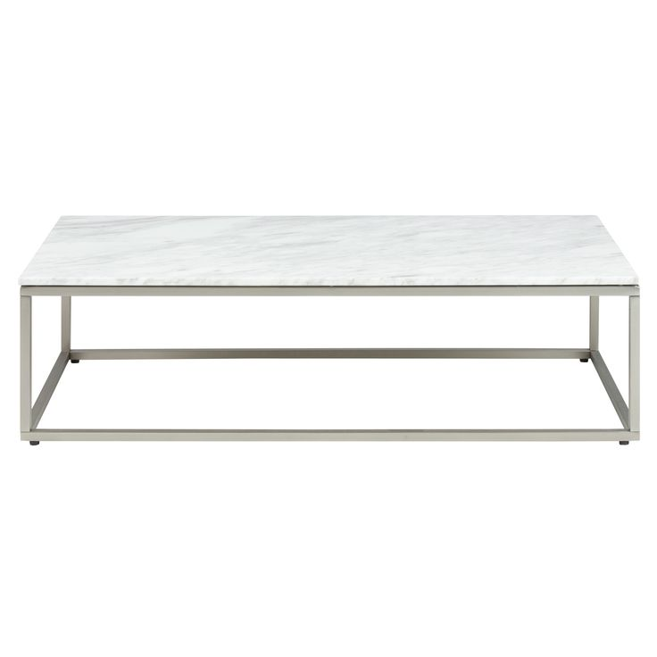 Volakas White Marble Top & Stainless Steel Bran Coffee Table by Latitude By Oneworld. Get it now or find more Coffee Tables at Temple & Webster.