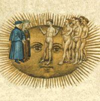 Dante Alighieri - La Divina Commedia. Paradiso. Dante in the sky of the sun.