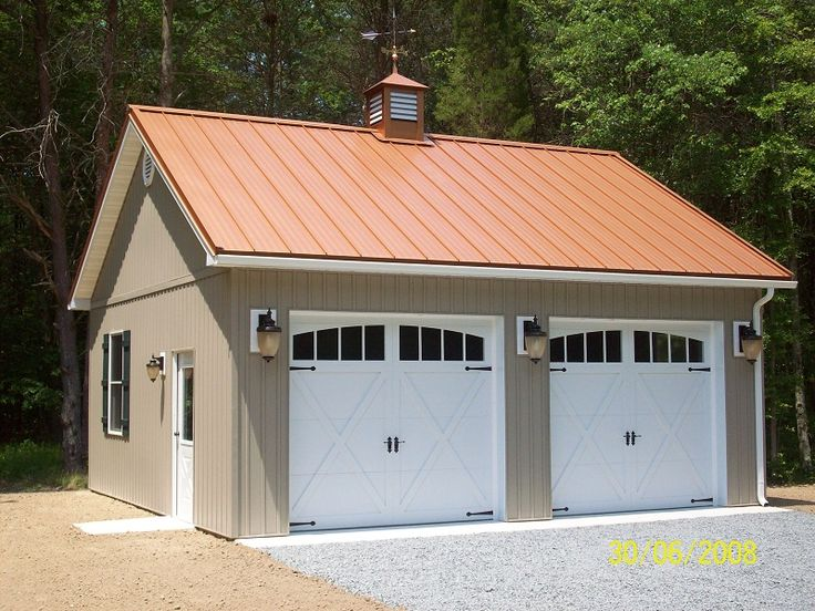 33 best garage plans images on pinterest garages pole for 4 car pole barn