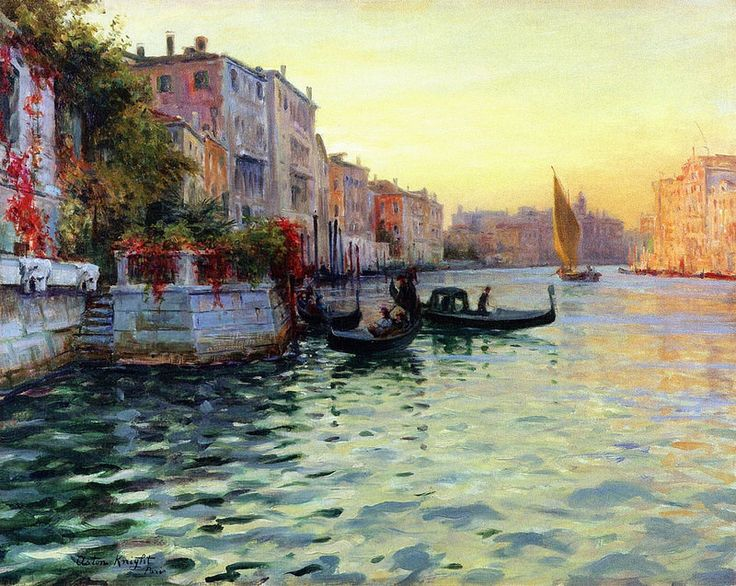 louis aston knight venice knight and paintings. Black Bedroom Furniture Sets. Home Design Ideas