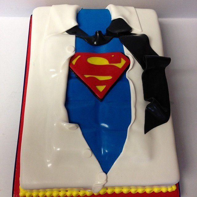 Costume Change Superman cake