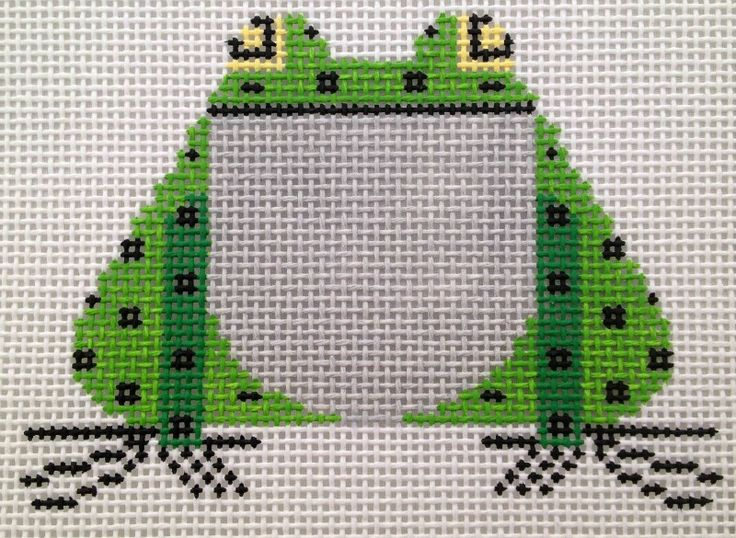 Charlie Harper Frog CH-F015 Hand Painted Needlepoint Canvas 13 Mesh http://myworld.ebay.com/bloominstitches