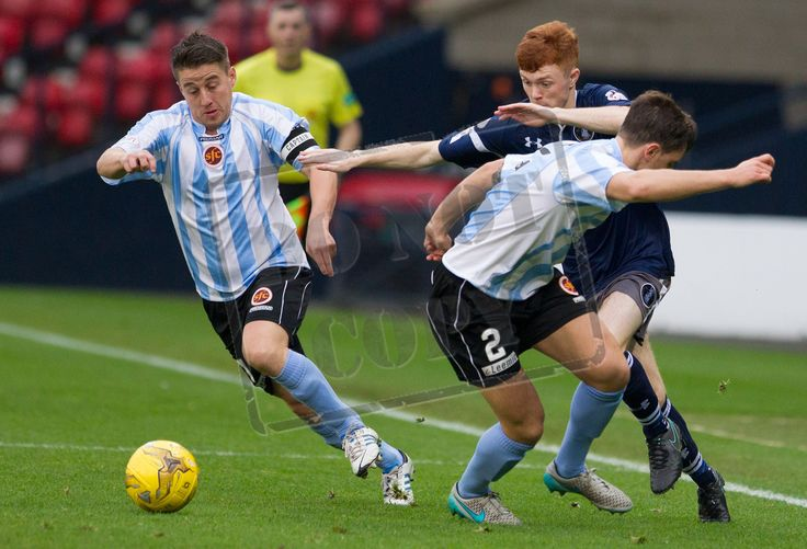 Queen's Park's Liam Brown in action during the Ladbrokes League One game between Queen's Park and Stenhousemuir.