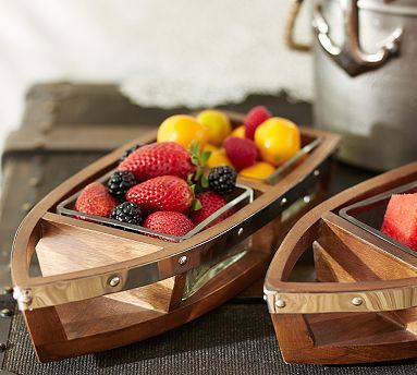Boat Condiment Set-Nautical Candy Bar #potterybarn
