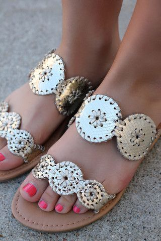 Gold Medallion Jack Rodgers Inspired Sandals AMILIA | UOIOnline.com: Women's Clothing Boutique