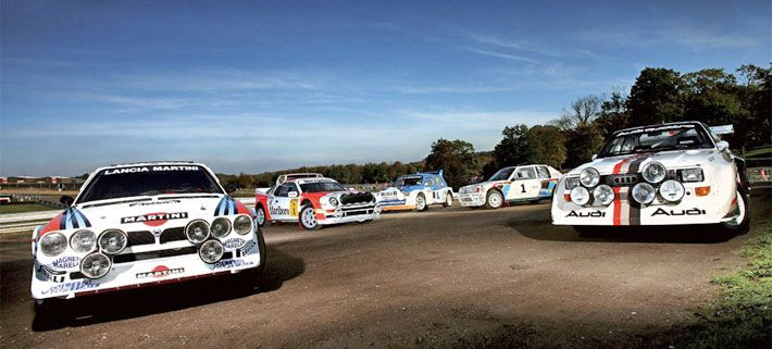 To fast to race. Collection of Group B rally cars from the 80's / Audi Sport Quattro / RS200 / Lancia 037 / 6R4 / Peugeot 205 Turbo