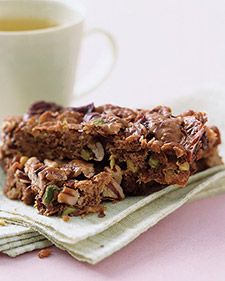 Make up a batch of these dense bars ahead of time and have them on hand for a quick, portable breakfast. They will last up to a week at room temperature, or for three months if wrapped individually and frozen.