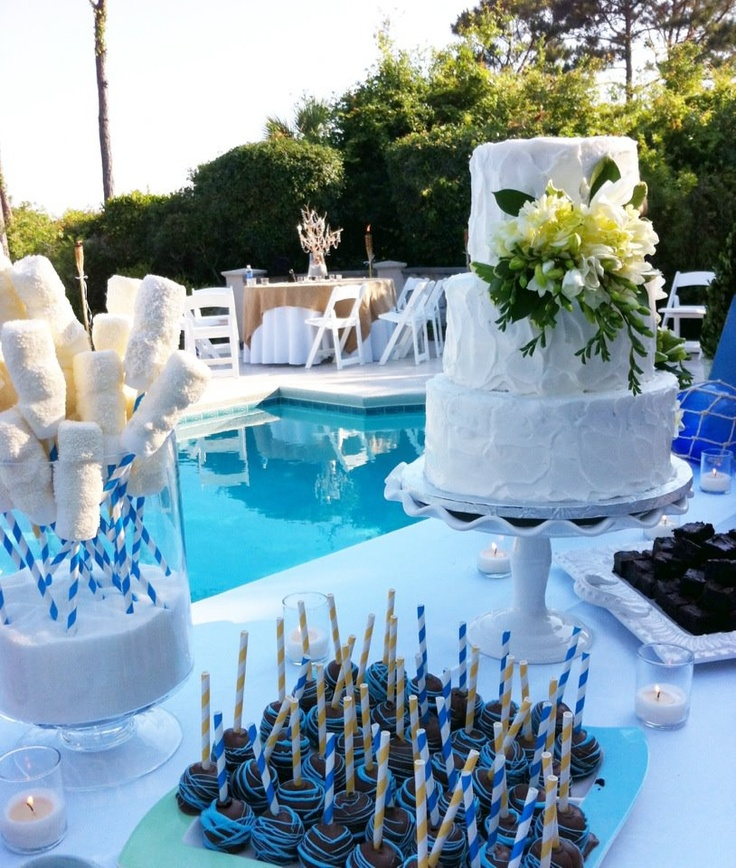 Beach Wedding Dessert Table: 17 Best Images About Cake & All Things Yummy Wedding Cakes