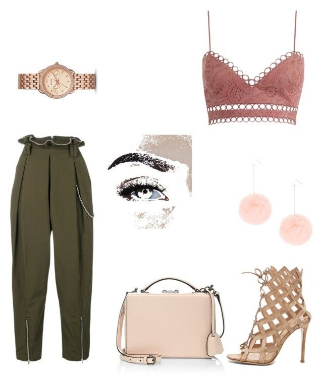 """Untitled #51"" by mariastoica on Polyvore featuring FOSSIL, Gianvito Rossi, Alexander Wang, Zimmermann and Mark Cross"