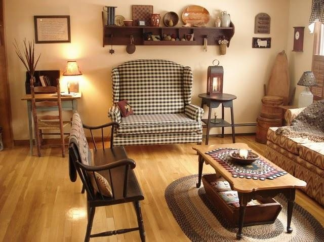 Country Primitive Home Living RoomPrimitive