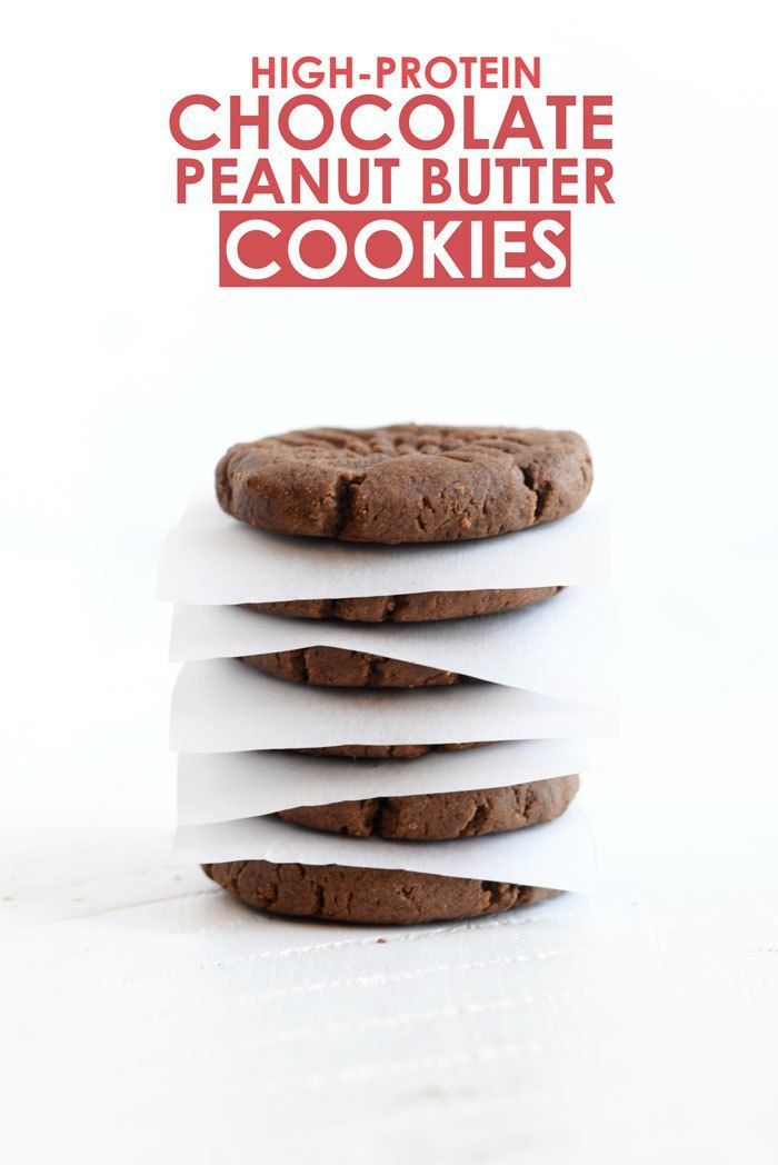 High-Protein Chocolate Peanut Butter Cookies #recipe #healthy #proteinpowder                                                                                                                                                                                 More