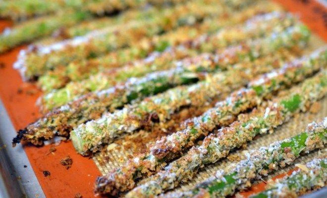 Crunchy Parmesan Crusted Asparagus recipe   Bean A Foodie