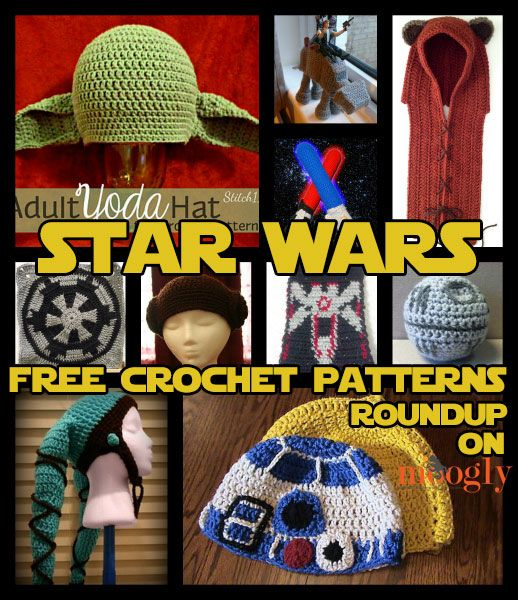Free Star Wars Crochet Patterns - Roundup on Moogly! TOTALLY making some of this stuff for Christmas presents...I know too many people who love Star Wars! (mostly adults too) LOL