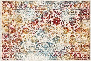 TAPIS FLEURI VINTAGE RECTANGULAIRE 120 x 170 Tapis et Peaux Tapis et peaux