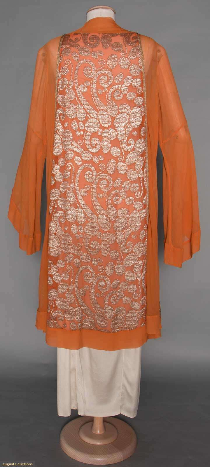 Jeanne Lanvin Lame Coat, Late 1920s. For upcoming vintage fashion and textile sale.