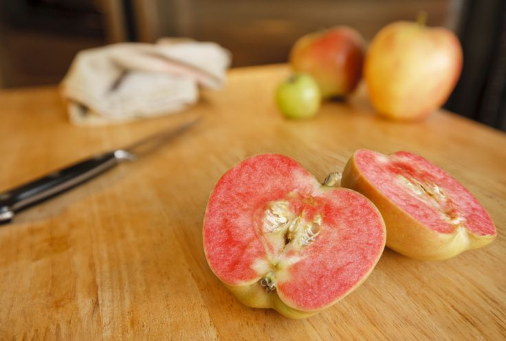 You haven't seen them at the grocers, but apple growing devotees have no doubt heard of apples with red flesh. A relative newcomer, there are a number of red fleshed apple trees available to the home fruit grower. Read this article to learn more.