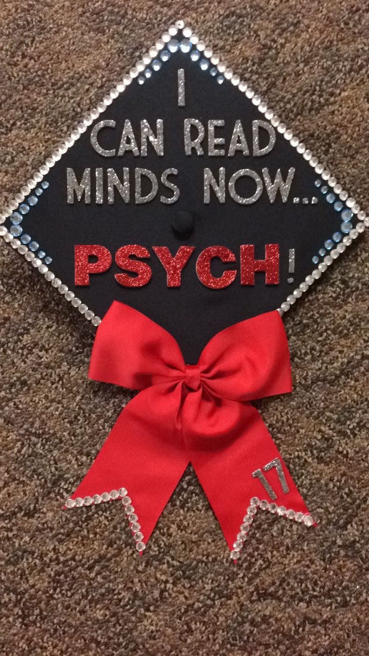 Psychology major graduation cap