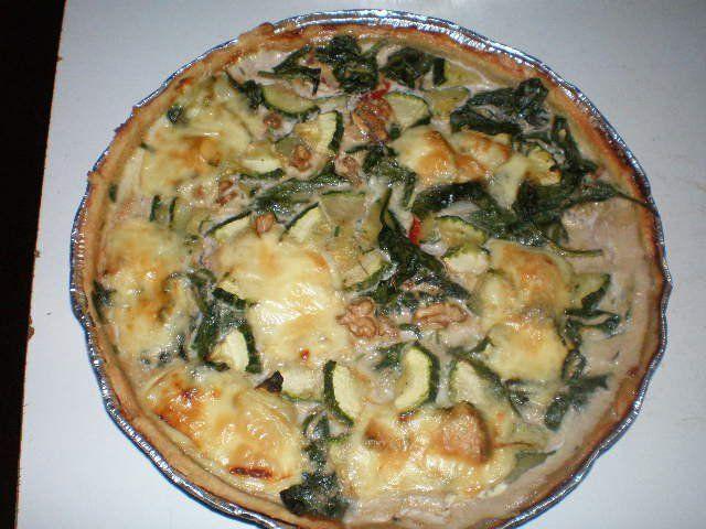 Quiche :Espinacas,mucho queso,palmitos, choclo,zapallitos italianos