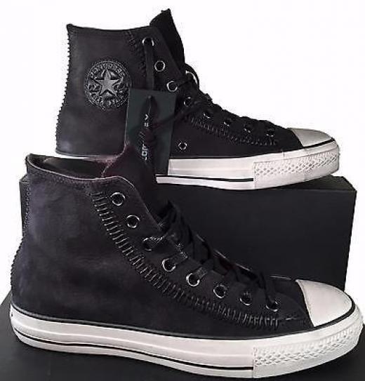 83b058c8 converse zapatillas varvatos,Zapatillas Converse Piel De Oveja John Varvatos  Nyc Suede Cuero Bajas Grises Hombre D200564