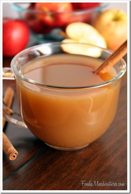 Mulled Apple Cider - for a real treat, mix in some caramel before ...