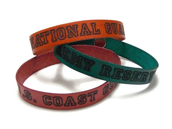 National Guard Army Reserve US Coast Guard Bracelets by TheLotusShop on Etsy