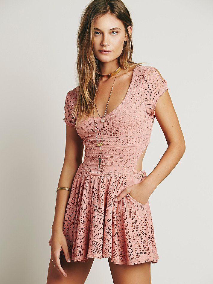 Free People Walk to the Beat Crochet Romper, $78.00