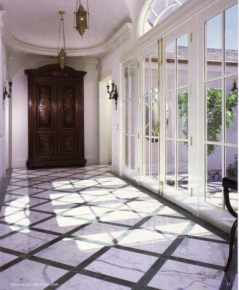 This Stunning Foyer Was Completed By Universal Tile