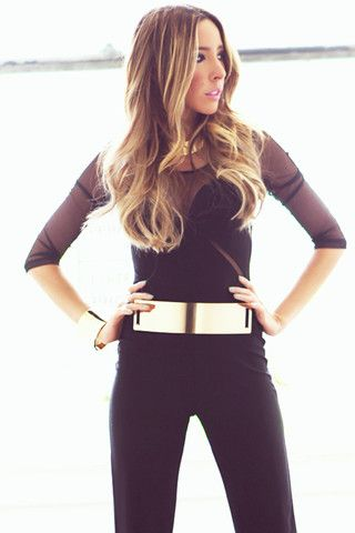 OVERSIZE GOLD PLATED BELT - Black | www.hauteandrebellious.com
