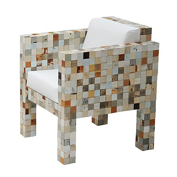 Waste Waste: furniture made from wasted wood waste by Piet Hein Eek   Please subscribe to my weekly newsletter at upcycledzine.com ! #upcycle