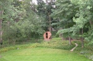 This photo was taken by Ed in Lake Forest, IL,  just before he took his inaugural sauna. What a beautiful location for a sauna!
