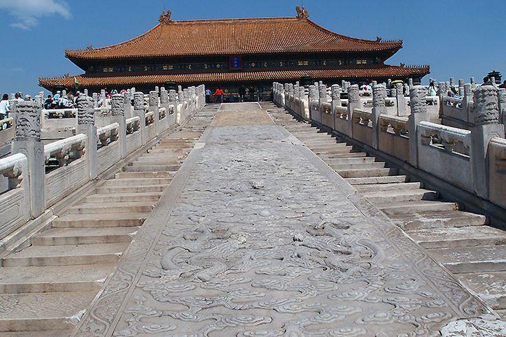 Pechino: Tappeto di nuvole e draghi