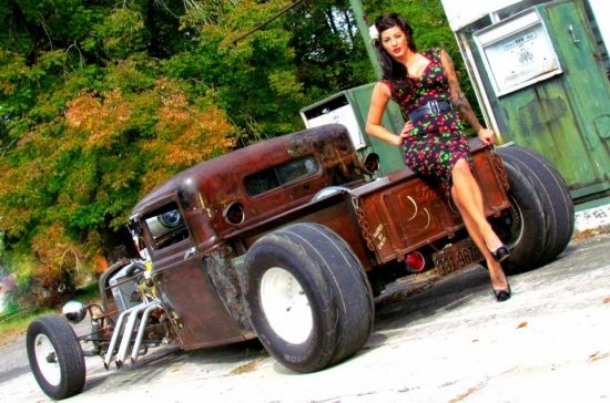1000 Images About Rat Rods And Hot Pin Up Girls On