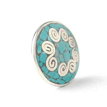 Noosa Amsterdam Chunk® 053 CHAKRA-turquoise-brass with turquoise
