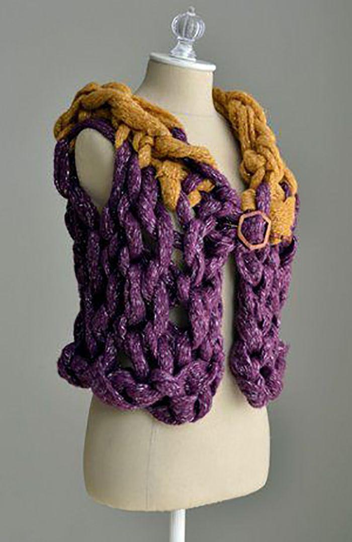 Arm Knitting Vest : Minute chunky arm knit vest tutorial knitting