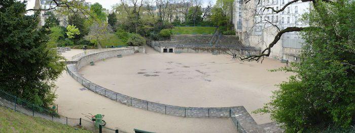 Les Arènes de Lutèce dans le 5ème, plus vieux monument de Paris (après l'Obélisque de la Concorde)