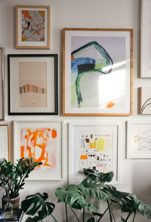 Gallery wall in the Williamsburg home of Leif owner and founder Stacy Anne Longenecker