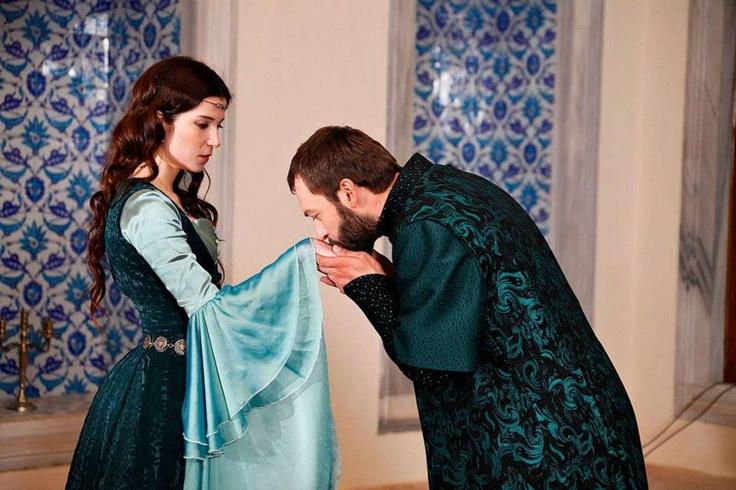 Hatice Sultan (Selma Ergeç) & Ibrahim Pacha (Okan Yalabik) ¤ The Magnificent Century ¤ Muhteşem Yüzyıl ¤ حريم السلطان ¤