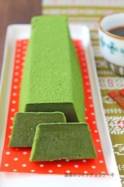 """""""Rich and smooth Matcha White Chocolate Terrine ☆"""" ぱ お 