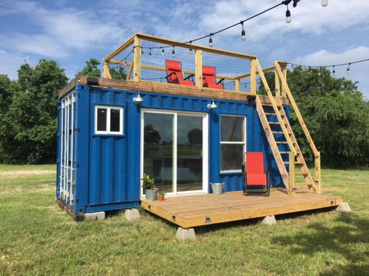 A simple 20-foot shipping container is transformed into the perfect cabin getaway with charming results. With sleeping spots for up to three guests, the cabin is a small but perfectly functional space to slip away to when the weather warms up.