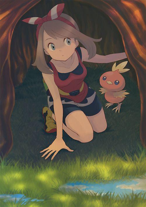 Pokemon trainer May Sapphire and Torchic //Pokemon ORAS