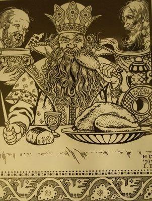 Билибин Иван Яковлевич. Иллюстрация к сказке Соль 1